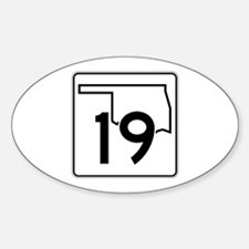 State Highway 19, Oklahoma Sticker (Oval)