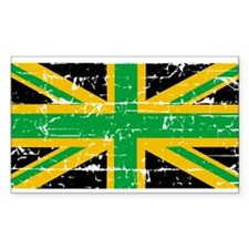 British Jamaican Rectangle Decal