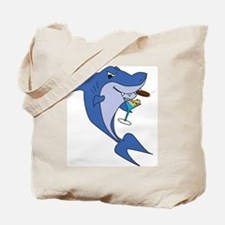 Smoking Martini Shark Tote Bag