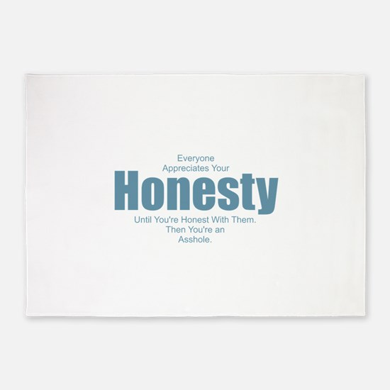 Honesty Asshole 5'x7'Area Rug
