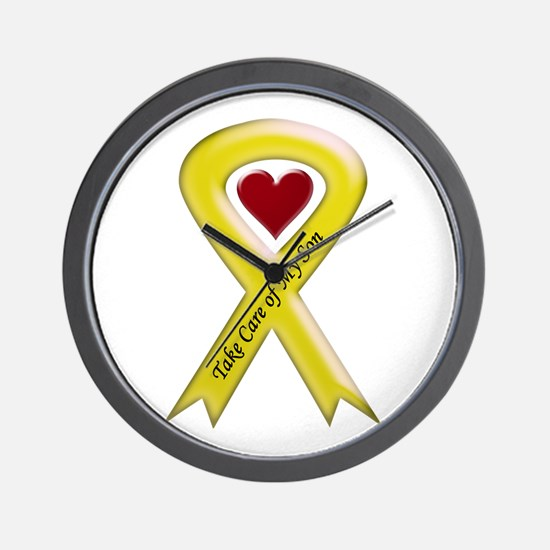 Take Care of my Son Yellow Ribbon Wall Clock