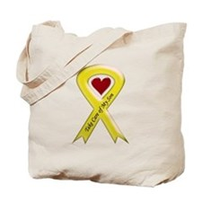Take Care of my Son Yellow Ribbon Tote Bag