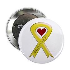 Take Care of my Son Yellow Ribbon Button