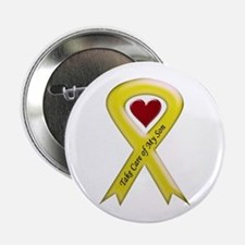 Take Care of my Son Yellow Ribbon Button
