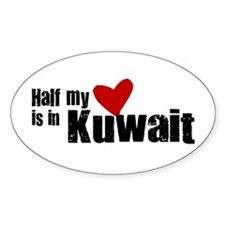 Half my heart Kuwait Oval Decal
