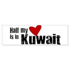 Half my heart Kuwait Bumper Car Sticker