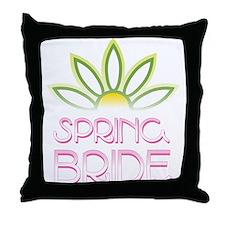 Spring Bride Throw Pillow