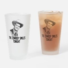 The Cowboy Smiles Tonight Drinking Glass