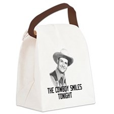 The Cowboy Smiles Tonight Canvas Lunch Bag
