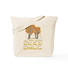 Fall Autumn Bride Tote Bag