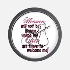Heaven with no cats? Wall Clock
