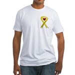 Keep My Soldier Safe Yellow Ribbon Fitted T-Shirt
