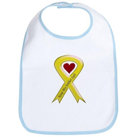 Keep My Soldier Safe Yellow Ribbon Bib