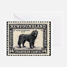 Vintage Newfoundland Postage Greeting Card