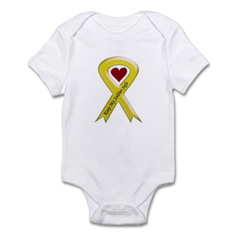 Keep My Soldier Safe Yellow Ribbon Infant Creeper