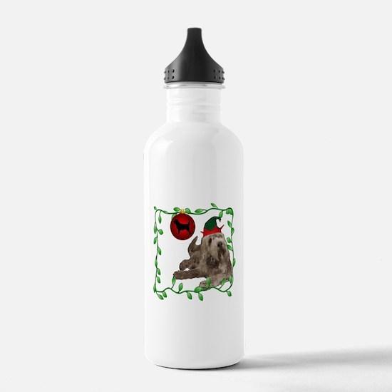 Otterhound Christmas Sports Water Bottle