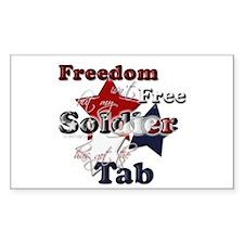 Freedom isn't Free Rectangle Decal