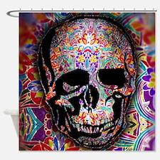 Flower Sugar Skull Shower Curtain