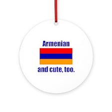 Cute Armenian Ornament (Round)