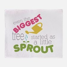 Little Sprout Throw Blanket