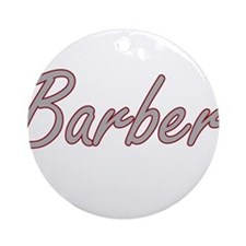 Barber Artistic Job Design Ornament (Round)