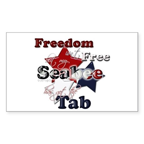 freedom isn 39 t free seabee rectangle decal by mpwife designs. Black Bedroom Furniture Sets. Home Design Ideas