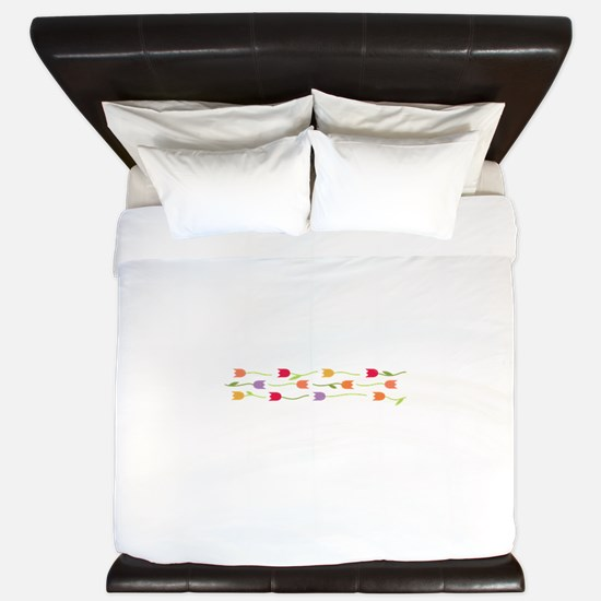 Tulip Border King Duvet