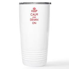 Keep Calm and Devan ON Travel Mug