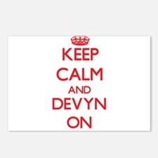 Keep Calm and Devyn ON Postcards (Package of 8)