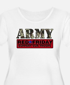 Red Friday_Logo_Army Plus Size T-Shirt