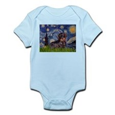 Starry Night & Wire Haired Dachshund Infant Creepe
