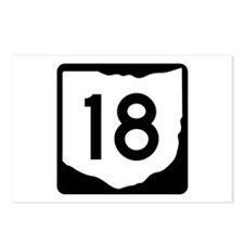 State Route 18, Ohio Postcards (Package of 8)