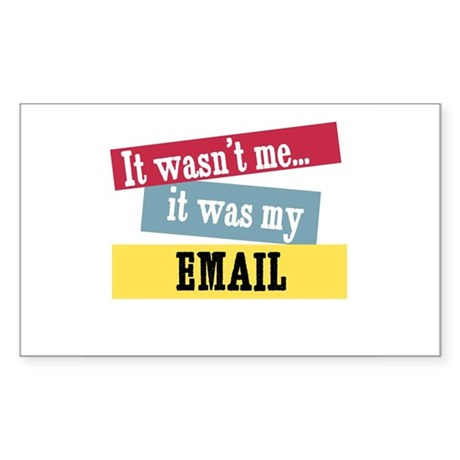Email Rectangle Sticker