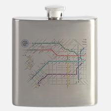 Buenos Aries Underground Subterraneo Subtle Flask