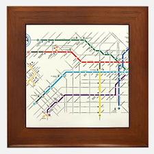 Buenos Aries Underground Subterraneo S Framed Tile