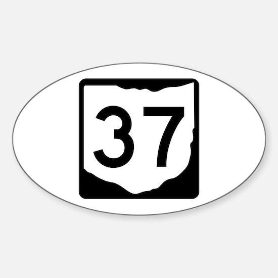 State Route 37, Ohio Sticker (Oval)