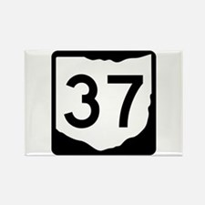 State Route 37, Ohio Rectangle Magnet