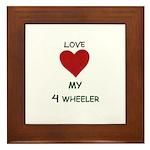 LOVE MY 4 WHEELER Framed Tile