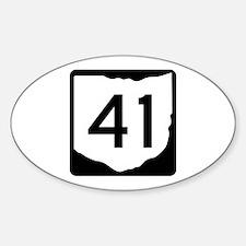 State Route 41, Ohio Sticker (Oval)