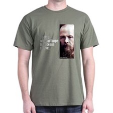 """Dostoevsky """"Without Hope"""" T-Shirt"""