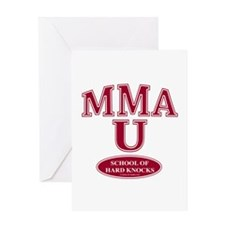 MMA School Of Hard Knocks Greeting Card