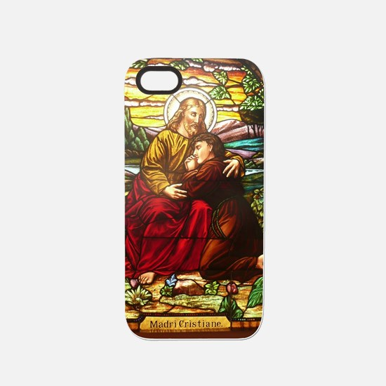 stained glass Jesus in an e iPhone 5/5S Tough Case