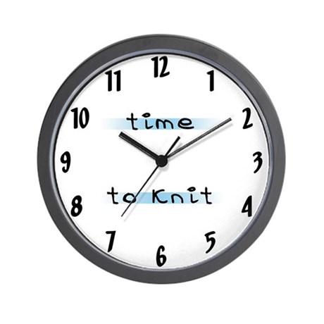 """Time to Knit"" Wall Clock"