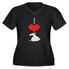 Goat Women's Plus Size V-Neck Dark T-Shirt