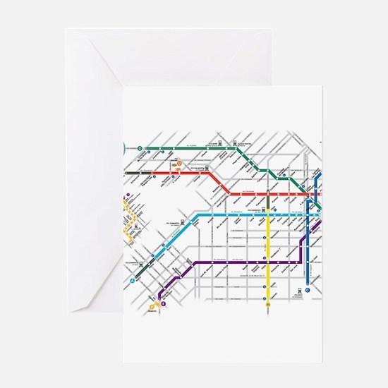 Buenos Aries Underground Subterrane Greeting Cards