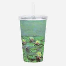 Waterlilies by Claude Acrylic Double-wall Tumbler