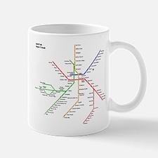 Boston Rapid Transit Map Subway Metro Undergr Mugs