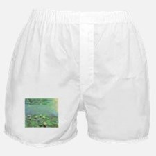 Waterlilies by Claude Monet Boxer Shorts
