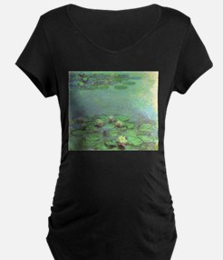 Waterlilies by Claude Monet Maternity T-Shirt