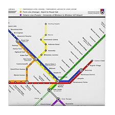 Metropolitan Transportation Detroit T Tile Coaster